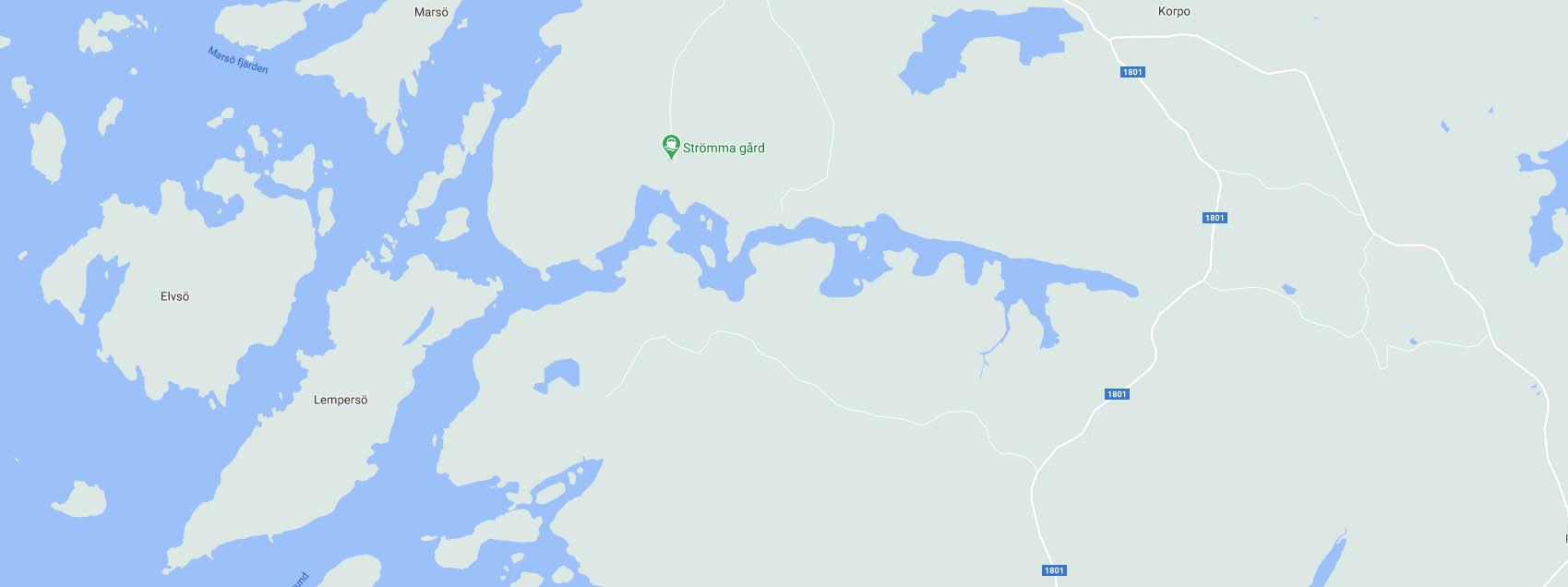 Strömma Gård båthamn långviken korpo